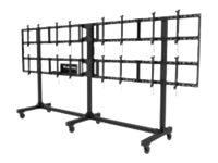 Peerless Portable Video Wall Cart 2x2, 3x2 or 4x2 Configuration for 46-55 Displays, DS-C555-4X2, 17828859, Stands & Mounts - AV