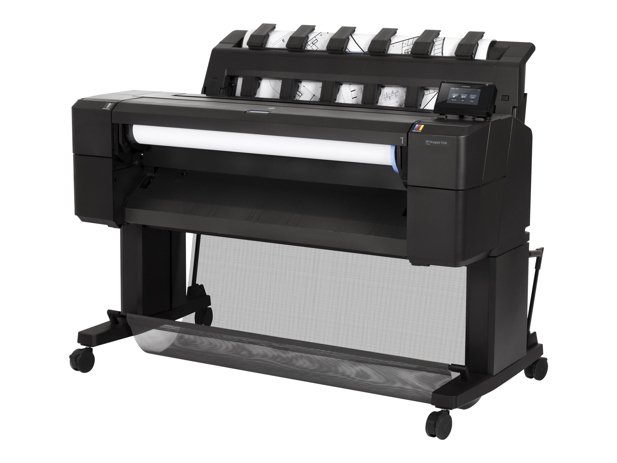 HP DesignJet T930 36 PostScript Printer w  Encrypted Hard Drive, L2Y22B#BCB, 30899459, Printers - Large Format