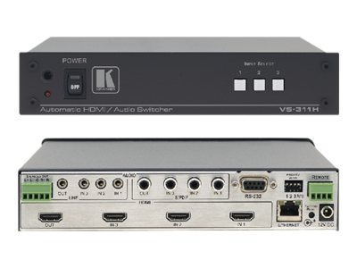 Kramer 3X1 HDMI Stereo S PDIF Stand-by, VS-311H, 15323283, Switch Boxes - AV