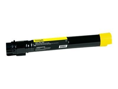 Lexmark Yellow Extra High Yield Toner Cartridge for X950de, X952dte & X954dhe Color Laser MFPs