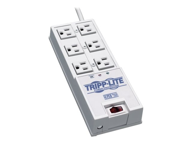 Tripp Lite Protect It! Surge (6) Outlet (4 Transformers) 6ft Cord 2420 Joules, TR-6, 19340, Surge Suppressors