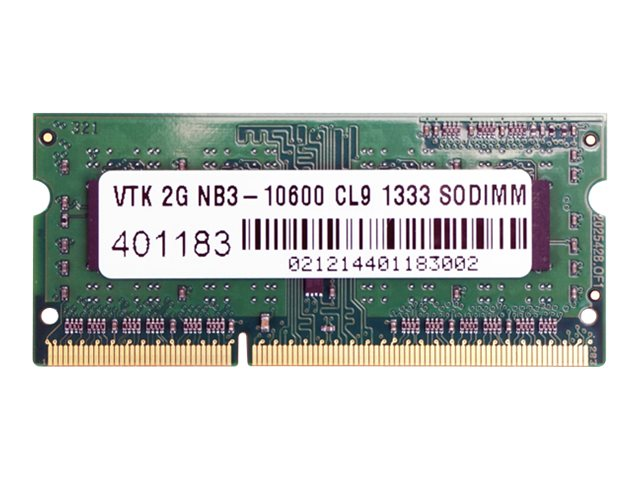 VisionTek 2GB PC3-10600 204-pin DDR3 SDRAM SODIMM, 900448