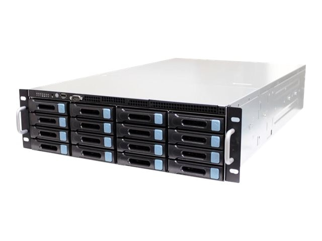 AIC RSC-3EH Server Rack Chassis, 3U with 4-1 Mini SAS Backplane, 16 Bays, 800W 80+ Silver Hot-Swap RPS, RSC-3EH080PSSA2C0C0A