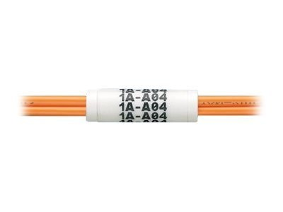 Panduit Label Core, Fiber Optic Cable, Flexible PVC, 7mm Simplex Cable, White, 100 Pack, NWSLC-7Y, 10665840, Premise Wiring Equipment