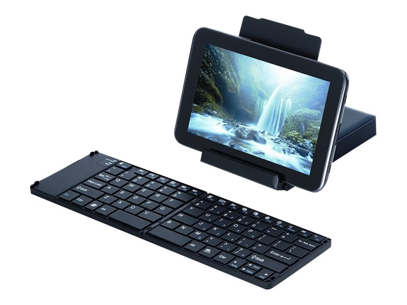 Targus Foldable Keyboard for Android Tablets, Black, AKF001US, 15797278, Keyboards & Keypads