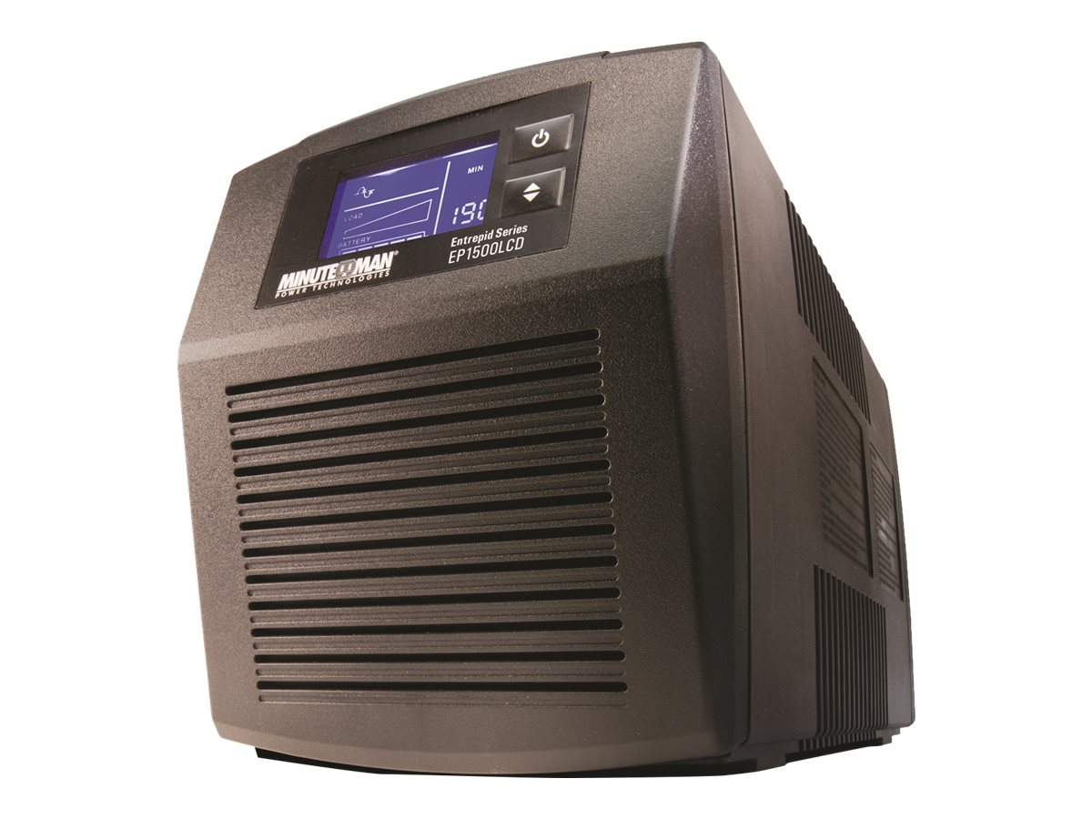 Minuteman 1500VA AVR UPS (6) Battery Surge Outlets, USB, EP1500LCD