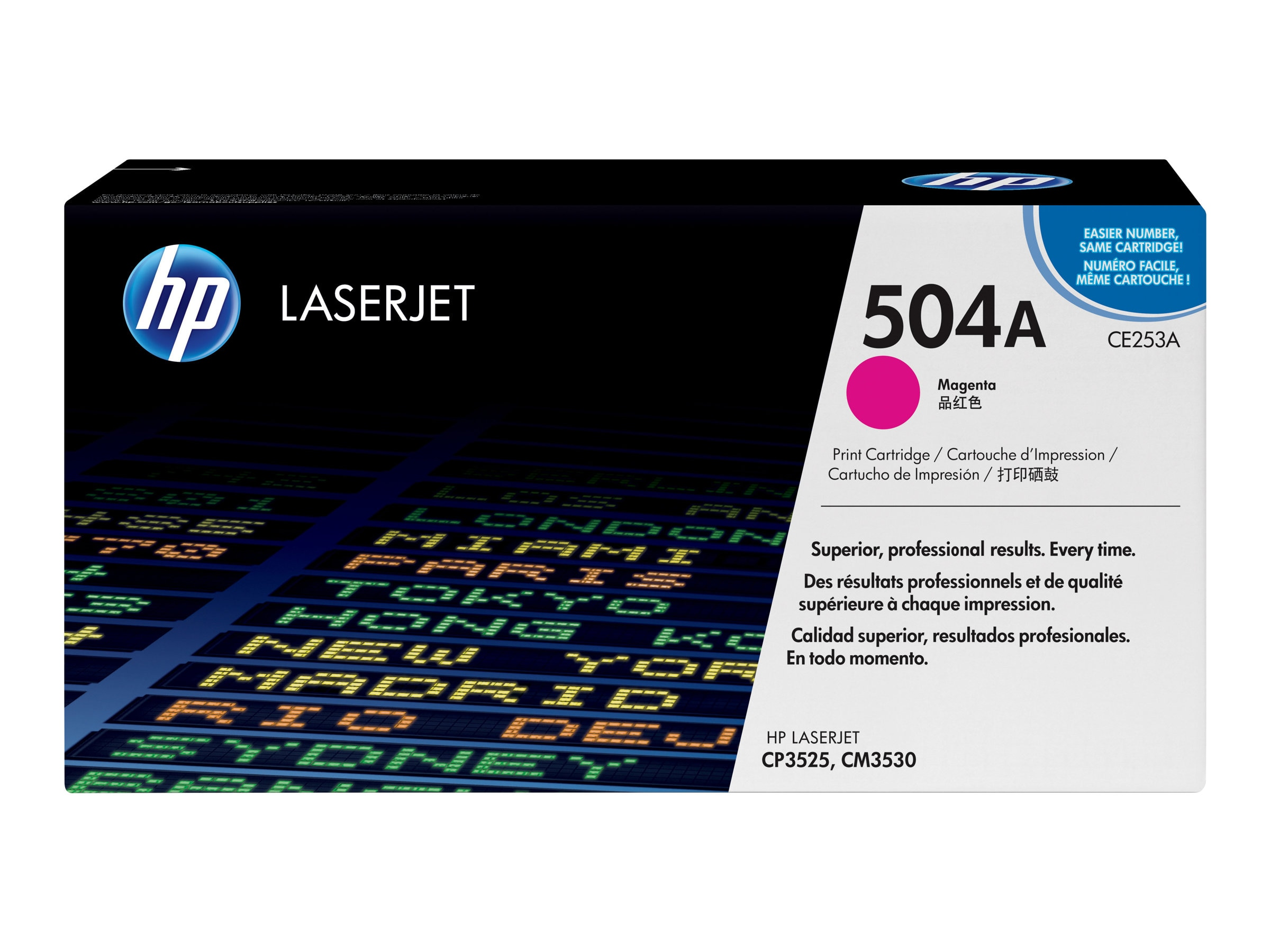 HP 504A (CE253A) Magenta Original LaserJet Toner Cartridge for HP Color LaserJet CP3525 & CM3530 MFP