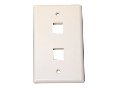 StarTech.com Universal Wallplate, 2-Outlet, RJ-45, Ivory, PLATE2IV, 13153840, Premise Wiring Equipment
