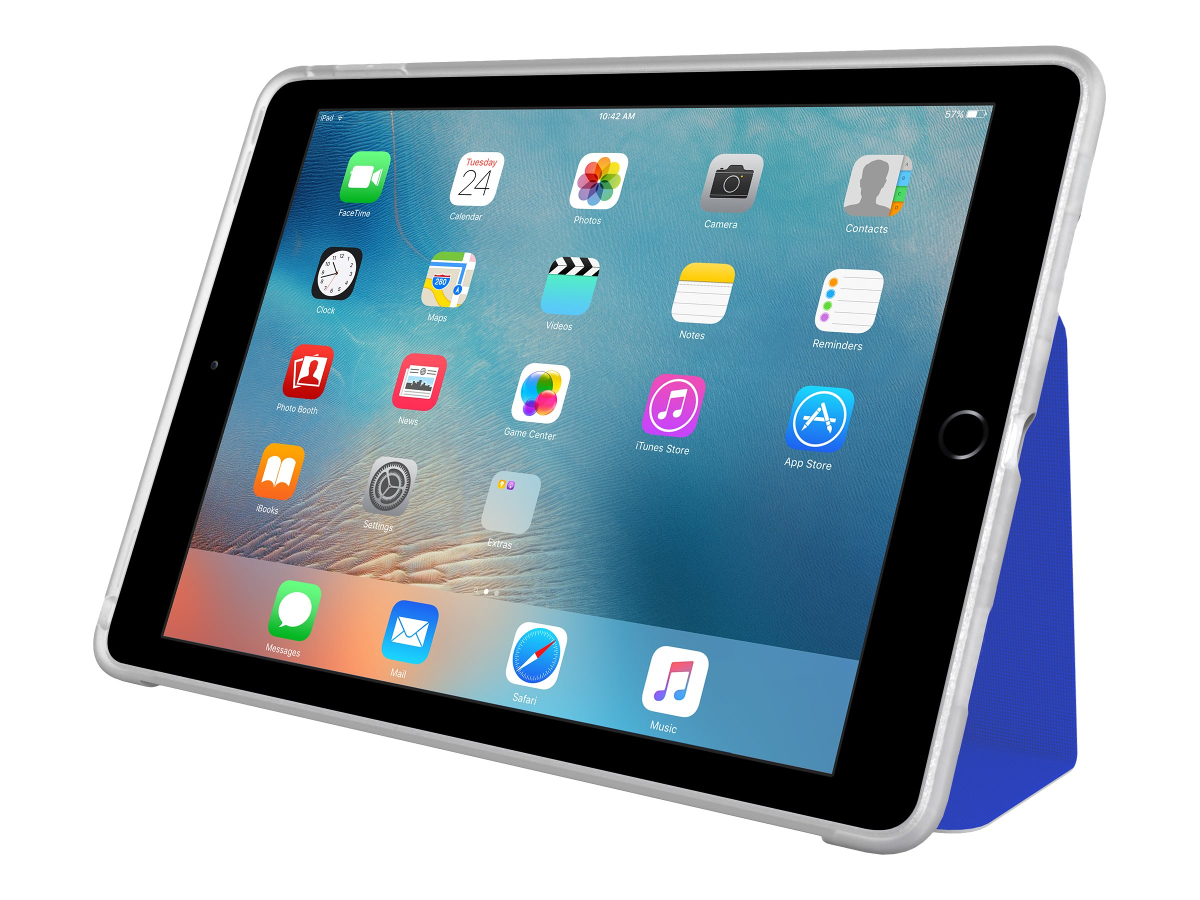 Incipio Clarion Shock Absorbing Translucent Folio for iPad Pro 9.7, Blue