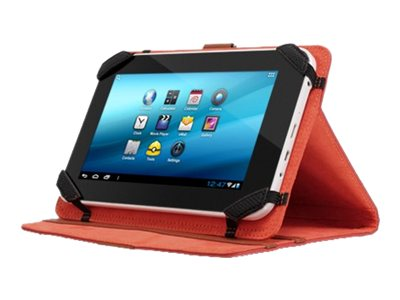Aluratek Universal Tablet Folio Case Stand 7 w  Multiple Viewing Angles, Red, AUTC07FR