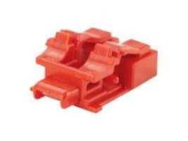 Panduit Red LC Duplex Adapter Blockout Devices with Removal Tool, 10-Pack, PSL-LCAB, 16714737, Cable Accessories