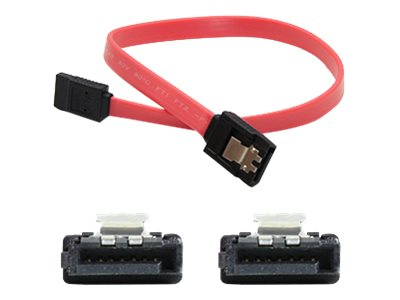 ACP-EP Latching SATA to SATA F F Cable, Red, 6, SATAFF6IN