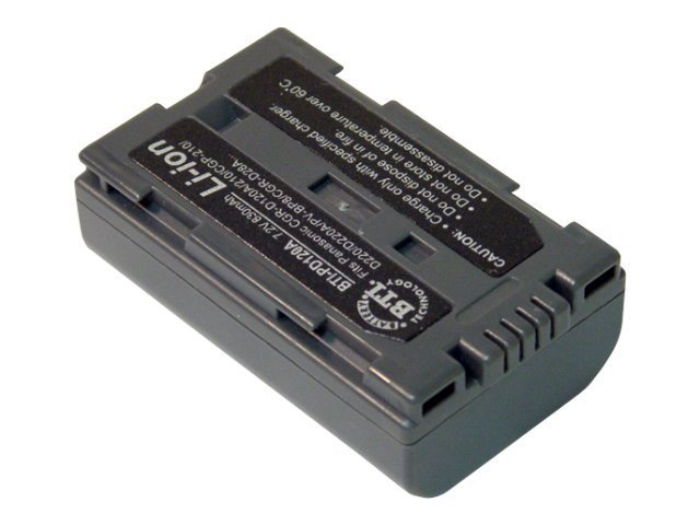 BTI Battery, Lithium-Ion, 7.4V, 1100mAh, for Panasonic CGP, CGR and PV, PD120A, 7927634, Batteries - Camera