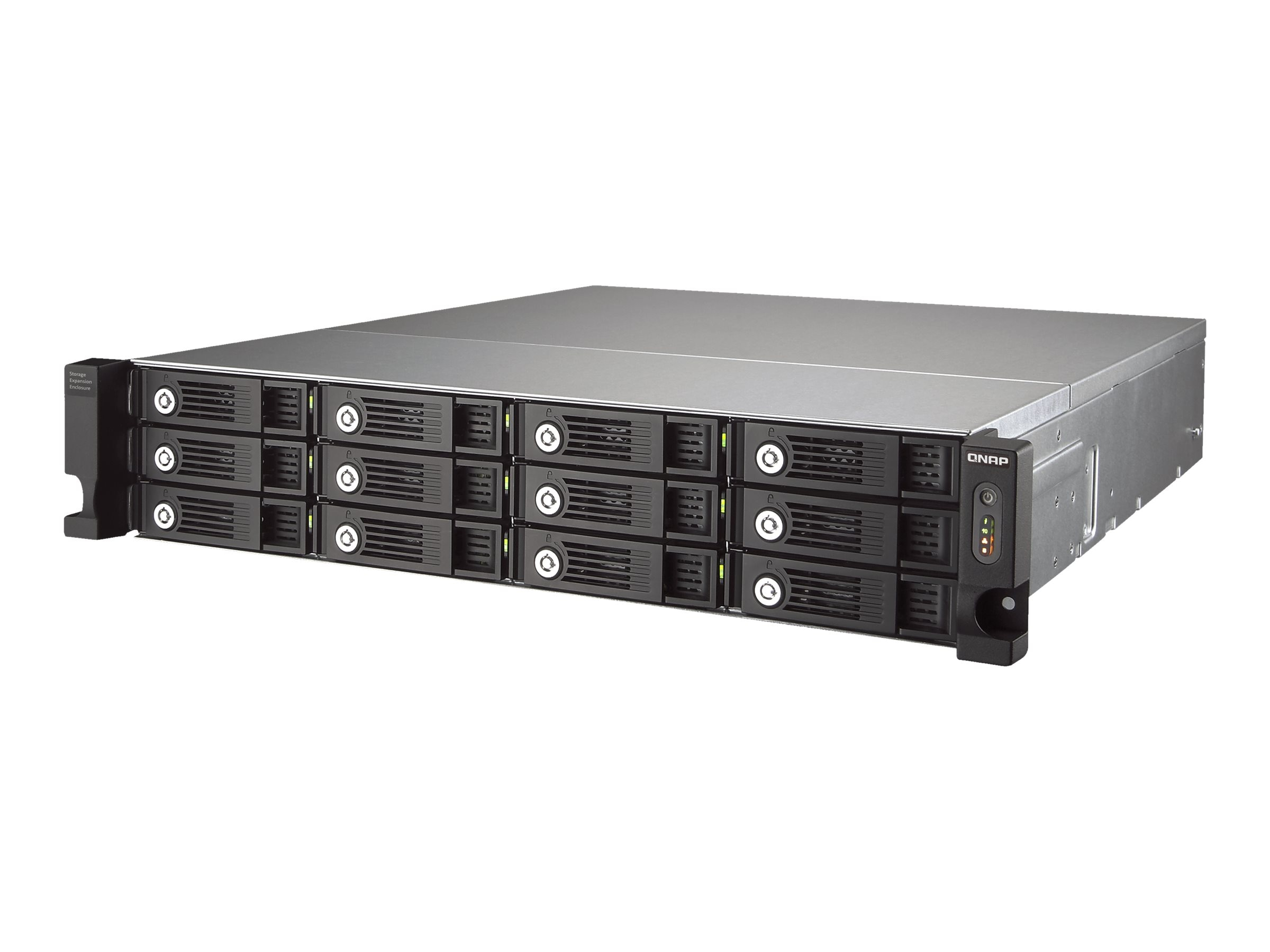 Qnap 12-Bay SATA 6Gb s Rack Expansion Enclosure, UX-1200U-RP-US