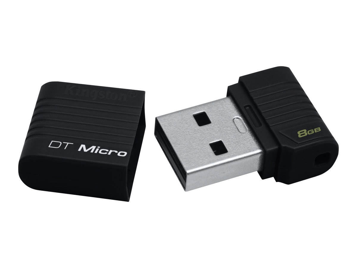 Kingston 8GB DataTraveler Micro USB 2.0 Flash Drive - Black