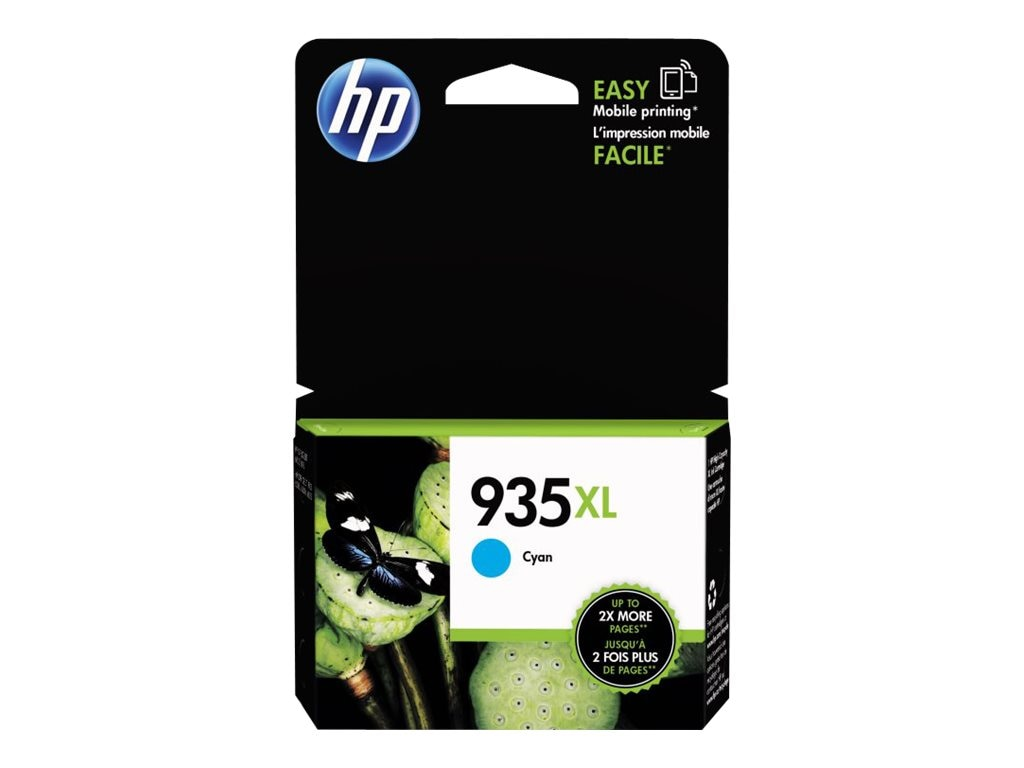 HP 935XL (C2P24AN) Cyan Original Ink Cartridge, C2P24AN#140, 17455141, Ink Cartridges & Ink Refill Kits