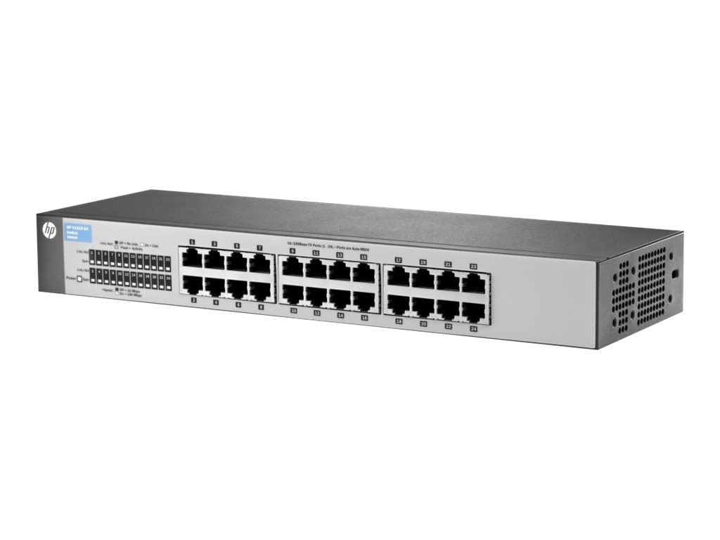 HPE V1410-24 10 100 Fast Ethernet Switch, J9663A#ABA, 12945811, Network Switches