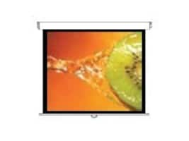 Optoma Panoview Manual Projection Screen with Speed Control, Matte White, 4:3, 84, DS-3084PMG+, 10794676, Projector Screens