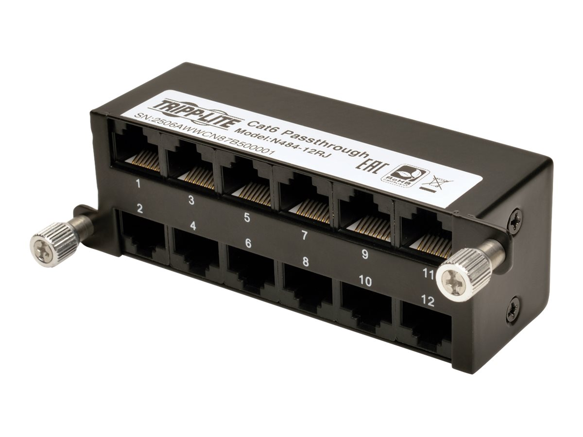 Tripp Lite High Density Cat5e   Cat6 Pass-Through Cassette 12 RJ45, N484-12RJ