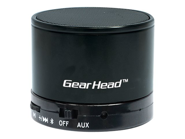 Gear Head Bluetooth Wireless Speaker w  Microphone - Black, BT3500BLK