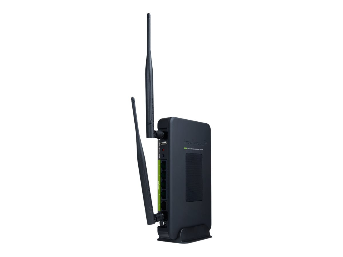 Amped Wireless High-Power Wireless-N Dual Band 600mW Smart Repeater, SR20000G, 14286425, Network Repeaters
