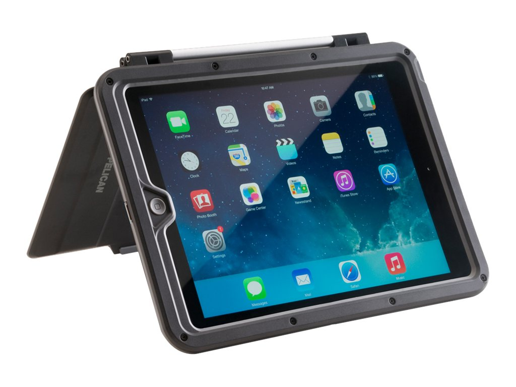 Pelican Vault Case for iPad Air, Black Gray
