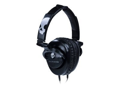 Skullcandy SkullCrusher Over-Ear Headphones - Black Pinstripe, SCS-SCBP, 19508234, Headsets (w/ microphone)