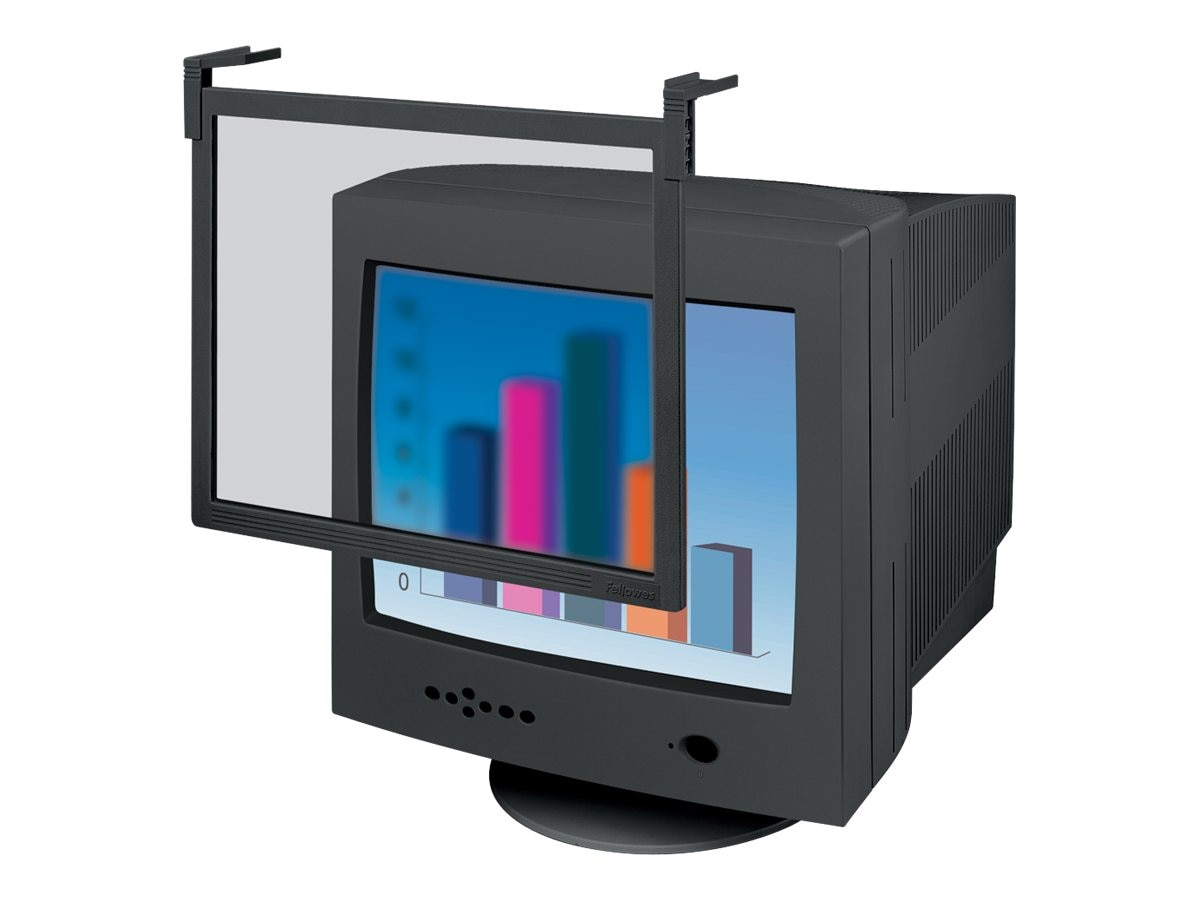 Fellowes 19 Standard CRT Filter, Black Frame, 93786, 5107595, Glare Filters & Privacy Screens