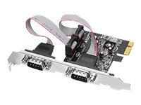 Siig 2-port DB9 Serial RS-232 PCIe 16950 Dual Profile Controller