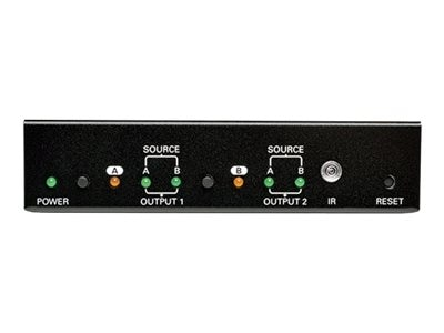Tripp Lite 2x2 HDMI Matrix Switch for Video and Audio, 1920x1200 at 60Hz   1080p, B119-2X2