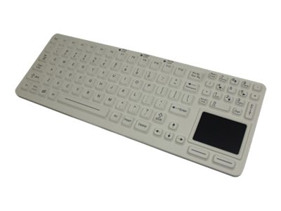 iKEY Medical Keyboard with Touchpad, White, EKS-97-TP-W