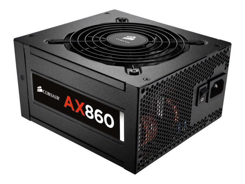 Corsair 860W AX860 High Performance Power Supply 80-Plus Platinum, CP-9020044-NA, 15002623, Power Supply Units (internal)