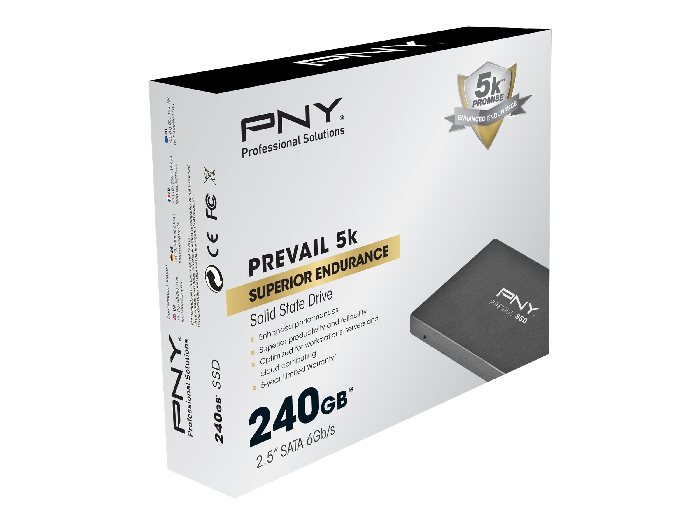 PNY 240GB Prevail 2.5 7mm Internal Solid State Drive, SSD7SC240GDDH-PB, 16198939, Solid State Drives - Internal