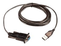 Intermec USB Type A to Serial M F Adapter Cable, Black, 1.8m
