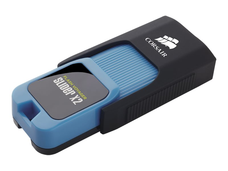 Corsair 128GB Flash Voyager Slider X2 USB 3.0 Flash Drive, CMFSL3X2-128GB
