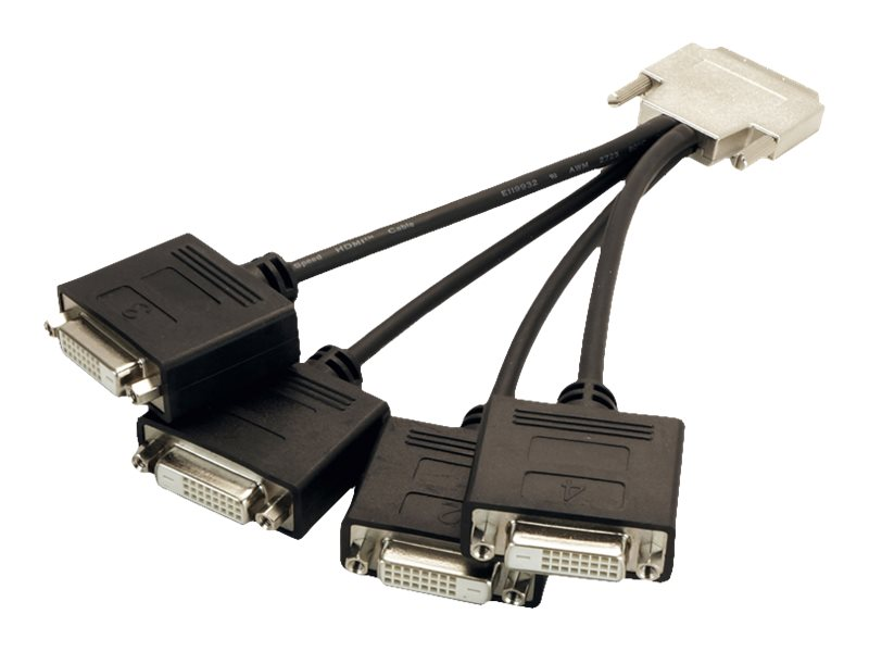 VisionTek VHDCI to 4x DVI-D Cable, Black, 900801