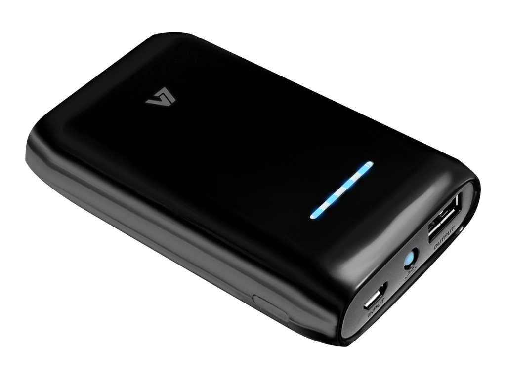 V7 Portable Power Bank 6600mAh, PB6600-2-BLK-20N, 18843516, Batteries - Other