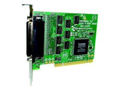 Brainboxes 8-Port RS232 PCI Serial Port Card DB25, UC-275
