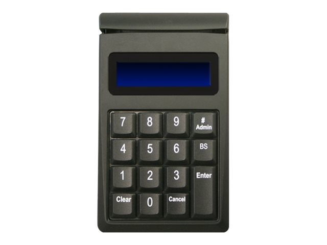 ID Tech SecureKey M130 USB Keypad Original Encryption Format 15-Key, 3-Track MSR, Black, IDKE-534833B