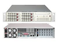 Supermicro Barebone SuperServer 6024H-TR 2U Rackmount, Xeon DP,800MHz,500W RPS,6PCIE,PCIX,CD,FDD,6xSATA, Beige, SYS-6024H-TR, 6268809, Barebones Systems