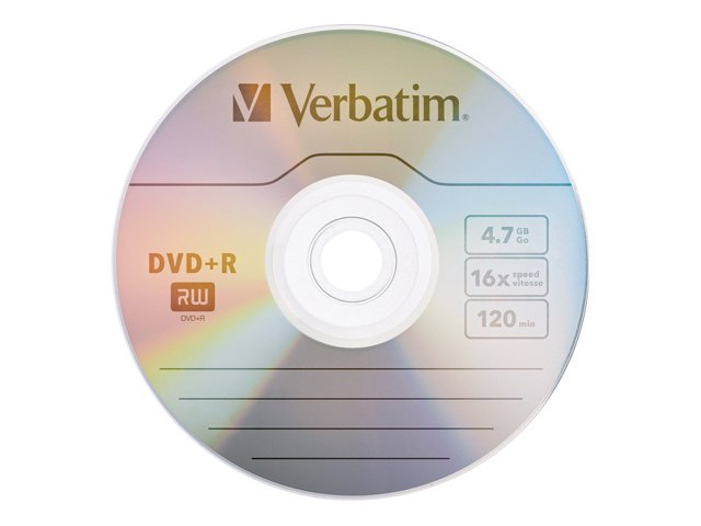 Verbatim 16x 4.7GB DVD+R Media (100-pack Spindle)
