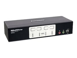 IOGEAR 4-Port KVM USB PS2 Switch with USB 2.0 Hub, Audio and Cables, Instant Rebate - Save $4, GCS1804, 8593171, KVM Switches
