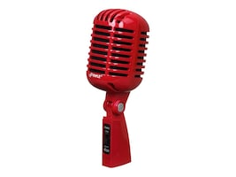 Pyle Classic Retro Vintage Style Dynamic Vocal Mic, Red, PDMICR42R, 33223075, Microphones & Accessories