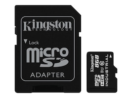 Kingston 8GB Industrial microSDHC UHS-I Flash Memory Card with SD Adapter, Class 10, SDCIT/8GB, 31860871, Memory - Flash