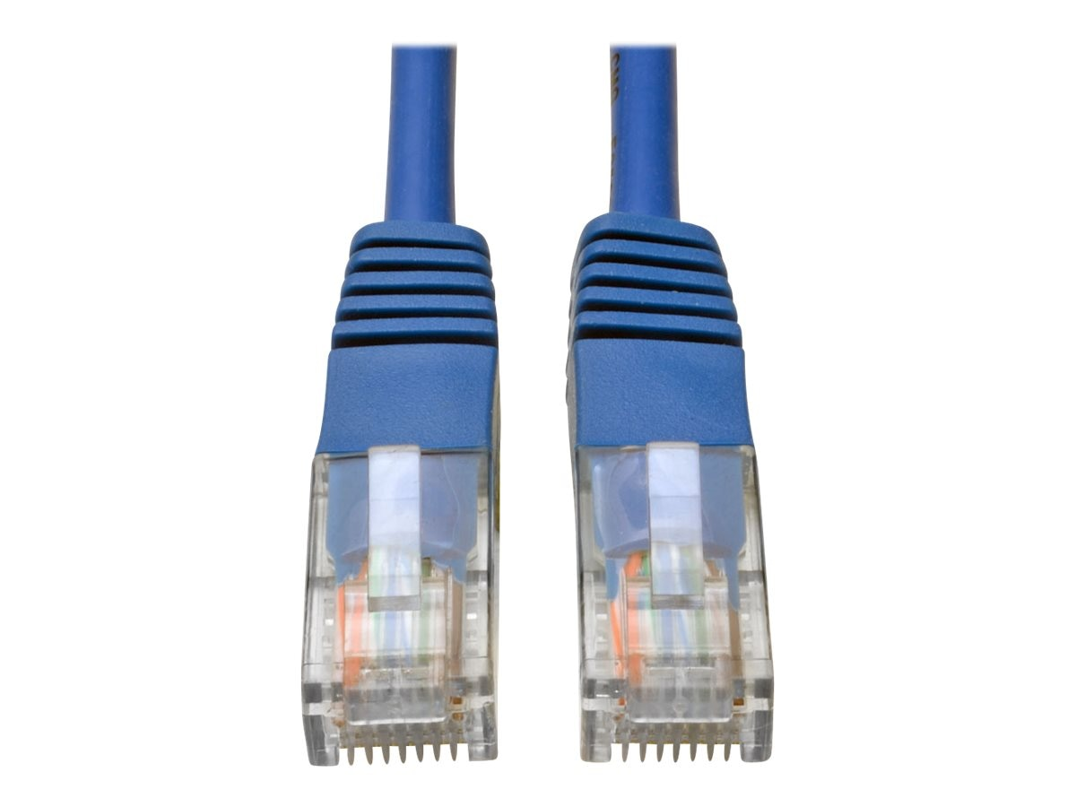 Tripp Lite Cat5e RJ-45 M M 350MHz Molded Patch Cable, Blue, 50ft
