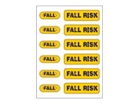 Zebra 2.5 x 3.5 Pet Fall Risk Alert Labels - Yellow (12 Labels-Per-Sheet 1000-Sheets)