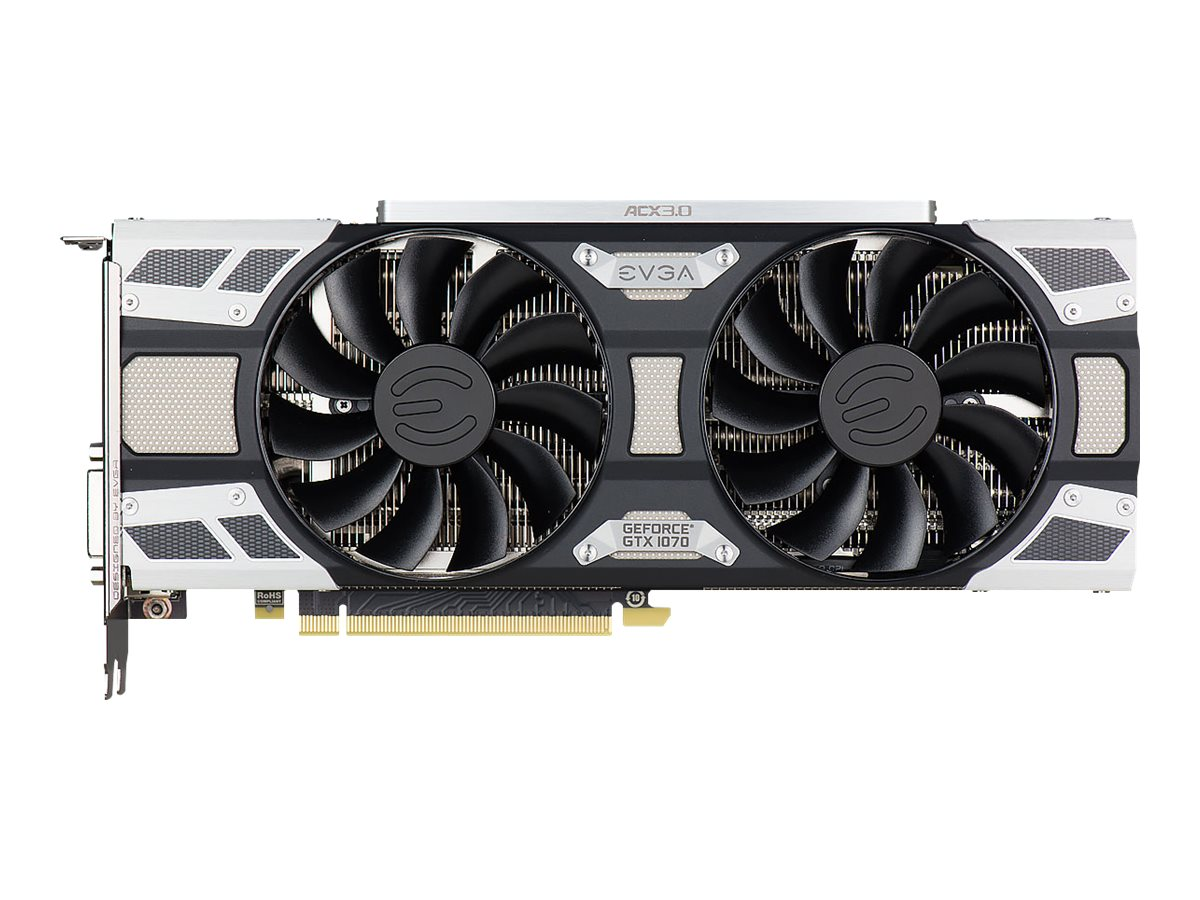 eVGA GeForce GTX 1070 PCIe 3.0 x16 Graphics Card, 8GB GDDR5