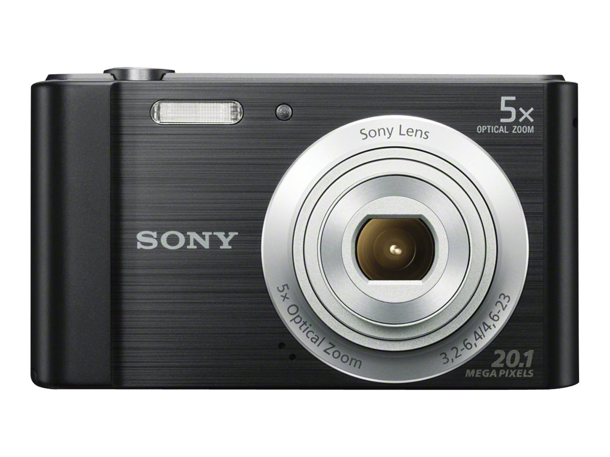 Sony Cyber-shot DSC-W800 Digital Camera, 20.1MP, 5x Zoom, Black