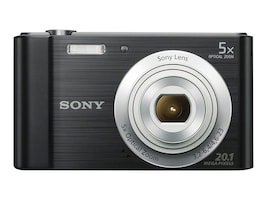 Sony Cyber-shot DSC-W800 Digital Camera, 20.1MP, 5x Zoom, Black, DSCW800/B, 17397745, Cameras - Digital