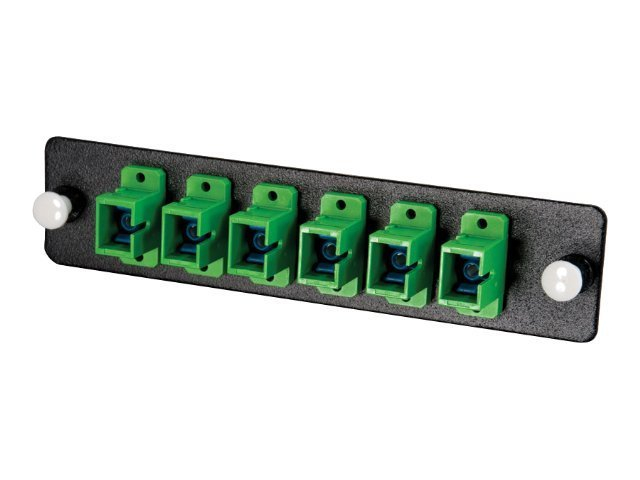 C2G 12-Strand SC, Zirconia Insert, SM, APC, Green, SC Adapter Panel, 31111, 7810321, Premise Wiring Equipment